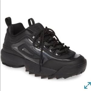 Fila Disrupter ll black and clear sneaker size 7